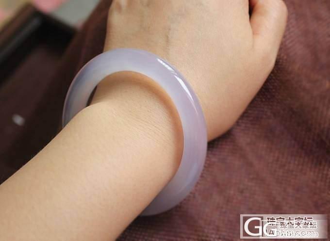 【挽玉阁】浅紫甜美玉髓手镯     300元包顺_挽玉阁