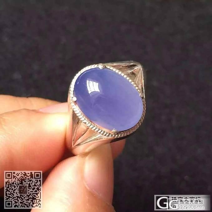 冰种紫罗兰戒指,饱满品相佳,种老水足,颜色非常漂亮_珠宝
