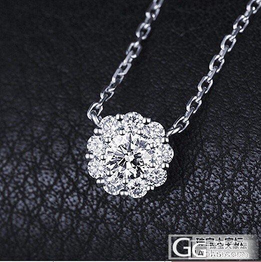 钻石吊坠女款 群镶18k白金玫瑰金锁骨链 女 圆形短款钻石..._金挚恒珠宝镶嵌