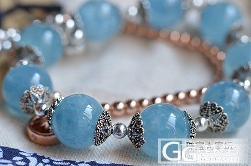 极美的海蓝宝手串~收?不收?_宝石珠串