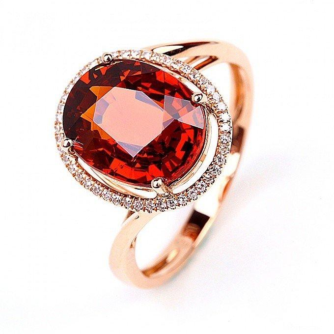 芬达石戒指,美不美_刻面宝石戒指芬达珠宝
