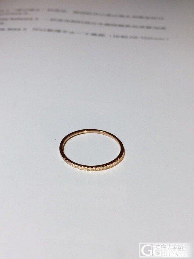 18K玫瑰金镶钻石排戒,太美,爱不释手_K金戒指金