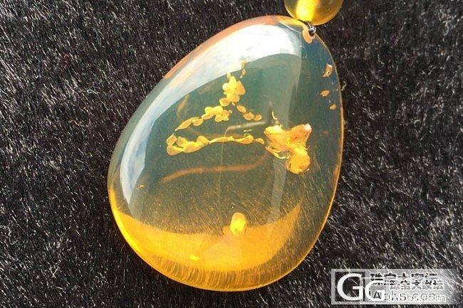 【锦珀网】~天然缅甸琥珀挂件 特色净水金兰群水胆随形吊坠_有机宝石
