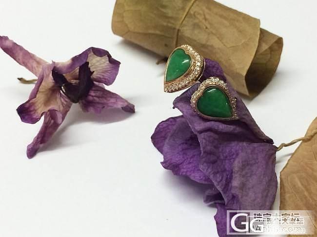 自家设计加工镶嵌成品,闪闪大家的眼睛_镶嵌耳钉翡翠珠宝