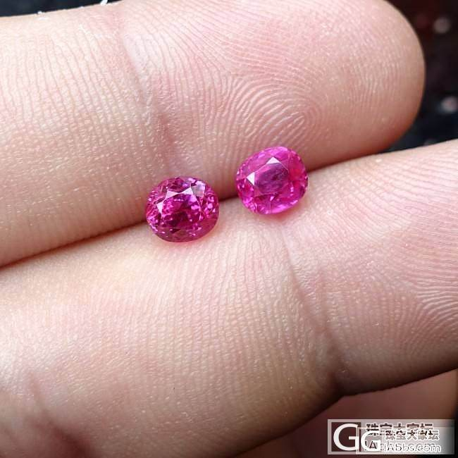 众里寻他千百度,两个小克什米尔产地蓝宝石和缅甸一对小红宝石_蓝宝石红宝石刻面宝石