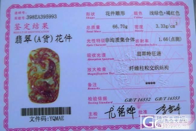 【铭盛翡翠】- 40*395993黄加绿大件精美龙牌_翡翠
