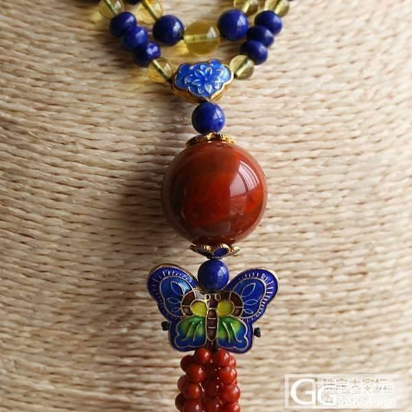 【Dudu】南红青金琥珀毛衣链 (1300,微信号:dudujade)_Dudu翡翠