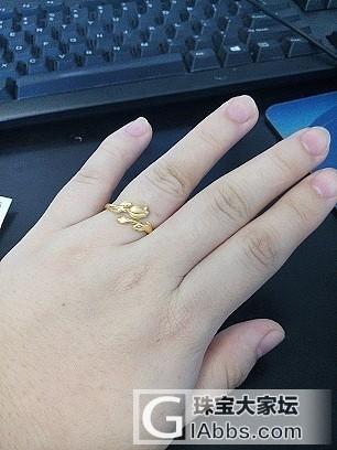 新入的六福花朵戒指_戒指金
