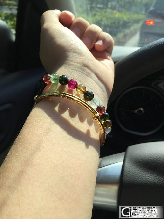 手镯和水晶~~也是好朋友_手镯珠串金