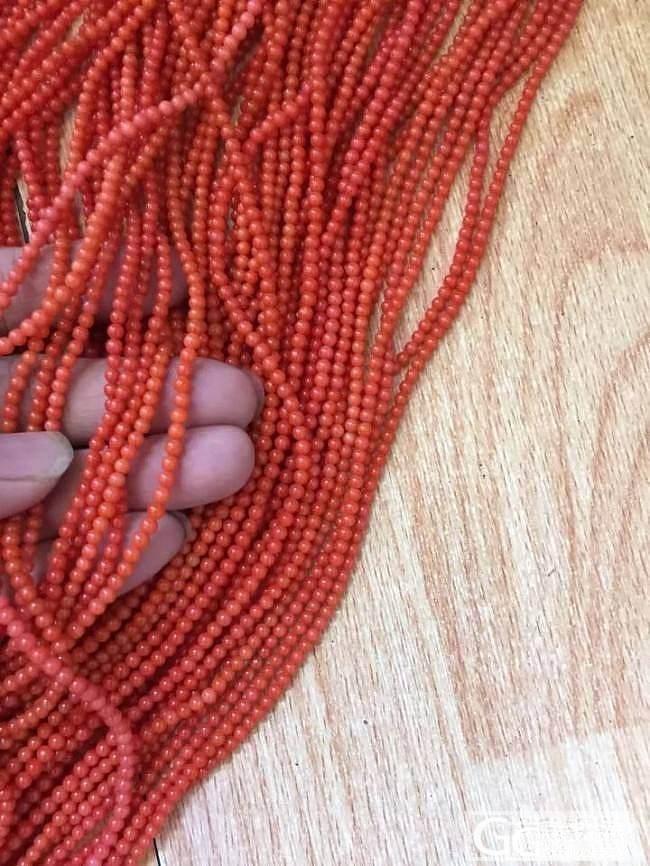 【亏本处理】3.3-3.5毫米意大利沙丁红珊瑚500克左右_有机宝石