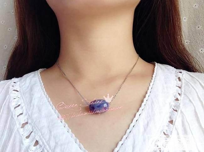 [QueenShine]漫天繁星——收藏级超细润星际蓝舒俱来/苏纪石路路通转运珠桶珠吊坠_宝石