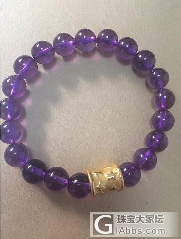 紫水晶配小金子 有闪必还_珠串紫水晶
