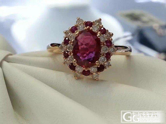 看中一款红宝钻戒_戒指红宝石