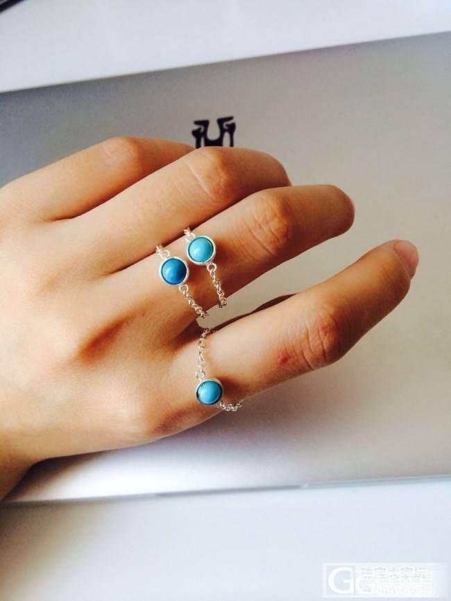 恰恰宝盒 绿松豆豆戒指和流苏耳坠_银