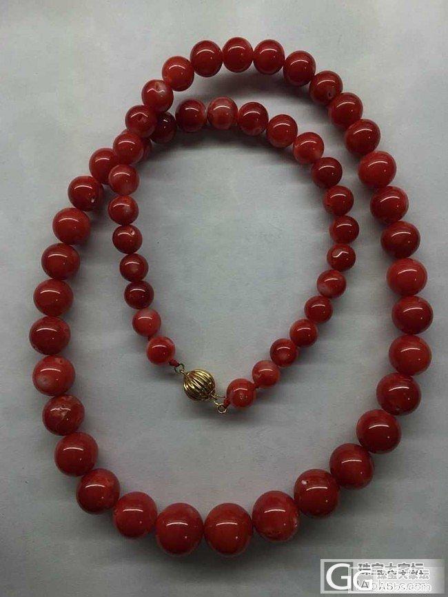 【红珊瑚】阿卡宝塔链 牛血级别 8.48~13.62 克重81.58 土豪专属_有机宝石