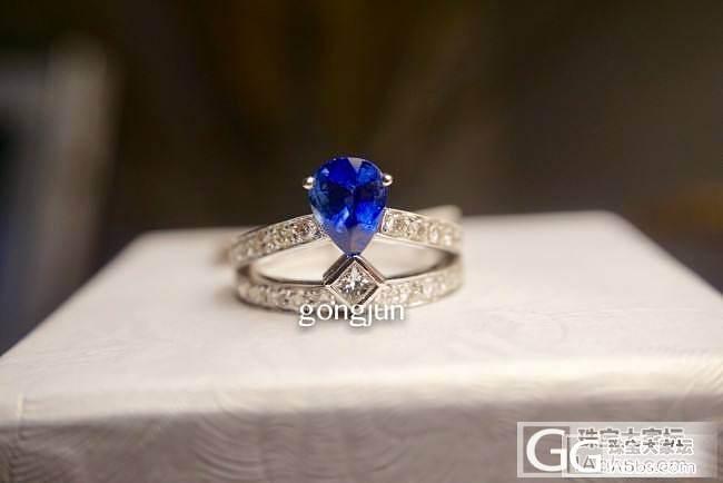 刚做好两个美丽的蓝宝石戒指,请评价下。_戒指蓝宝石