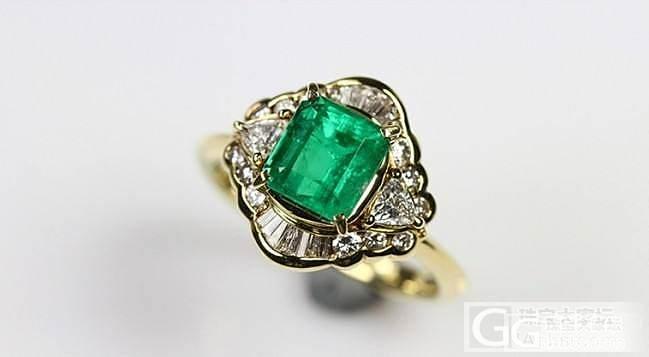 天然 祖母绿戒指 浓绿色 1.99ct 造型独特_宝石祖母绿戒指