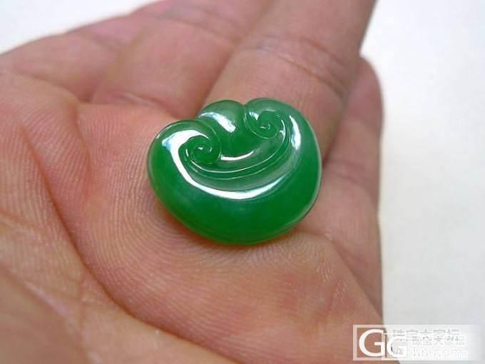 【韵玉阁】满阳绿蛋面 冰种手镯 阳绿如意 阳绿荷叶_翡翠