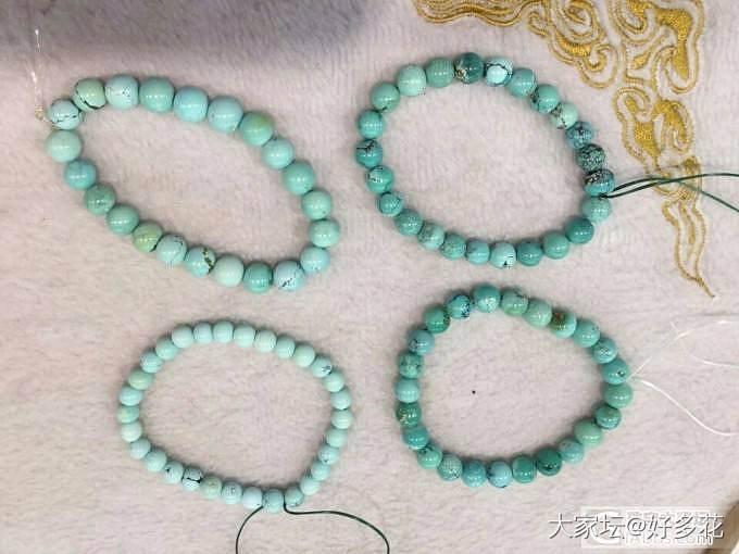 原矿松石小珠配链子108各种。。手链。戒面。。_珠宝