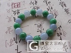 【广福珠宝】漂亮的紫罗兰+阳绿手串,阳绿的翡翠项链,紫罗兰手镯,三彩项链_翡翠