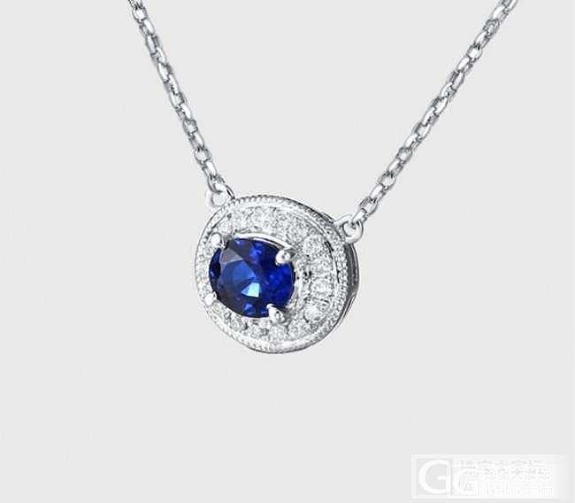 0.35克拉蓝宝石锁骨链_宝石