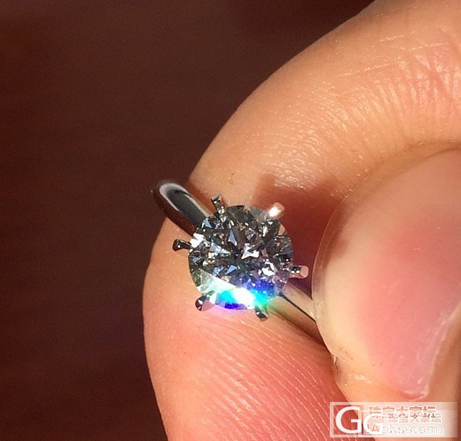 闪闪闪~~秀一下新收的钻戒_钻石
