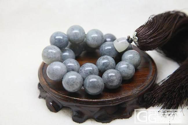 【菜菜和田玉】新疆和田点墨18mm手持念珠_传统玉石