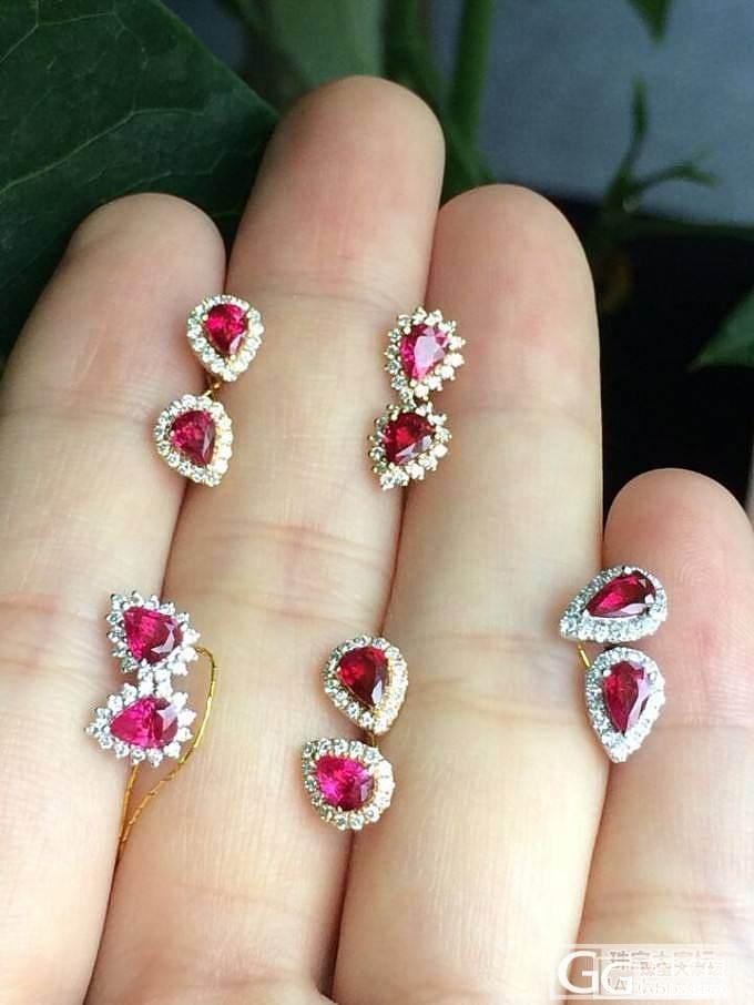 (全售)卡卡家热情似火的现货红宝耳钉仅售2500米一对儿_宝石