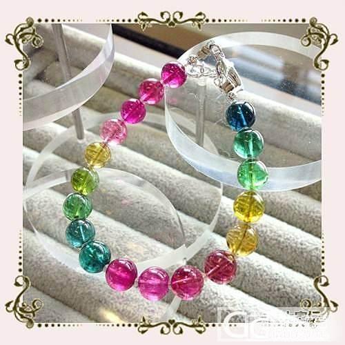 彩虹碧玺手串,碧玺单珠,舒俱来手串、单珠子、吊坠_宝石