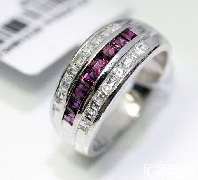 【圣韵宝宝】铂金红宝石排钻戒指_圣韵钻石