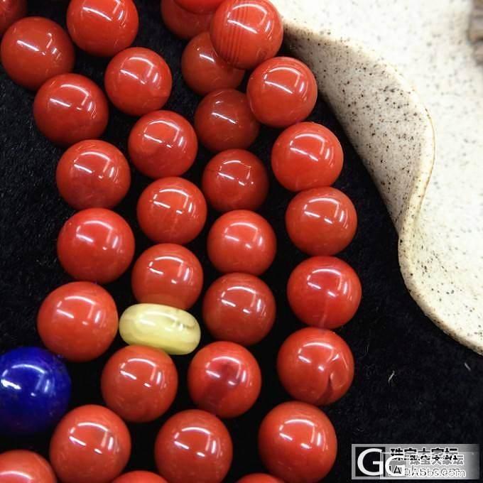 料九口满肉柿子红南红玛瑙7.5mm108佛珠手链_文玩