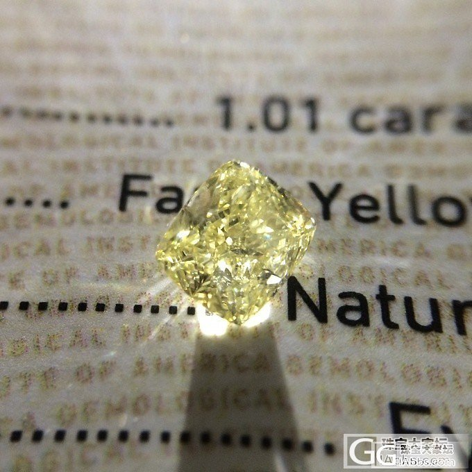 【GIA黄钻现货】 1.01ct Fancy Yellow SI2 VG VG N_千寻珠宝
