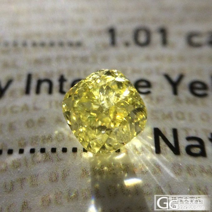 【GIA黄钻现货】 1.01ct Fancy Intense Yellow VS1 VGVG N_千寻珠宝
