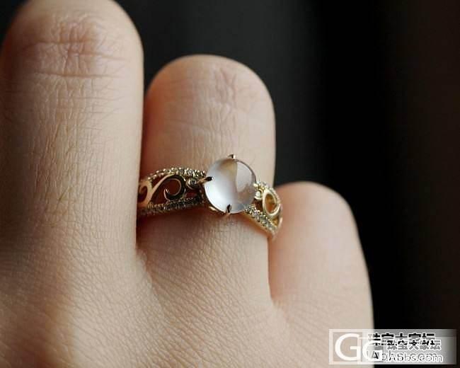 【史书翡翠】两个小仙物 白蛋戒指 尽显纤柔_史书翡翠