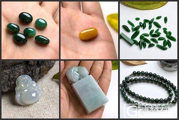 【爱翡翠】7月3日 24件翡翠新品 满绿蛋面 珠链 印章等 ....._翡翠