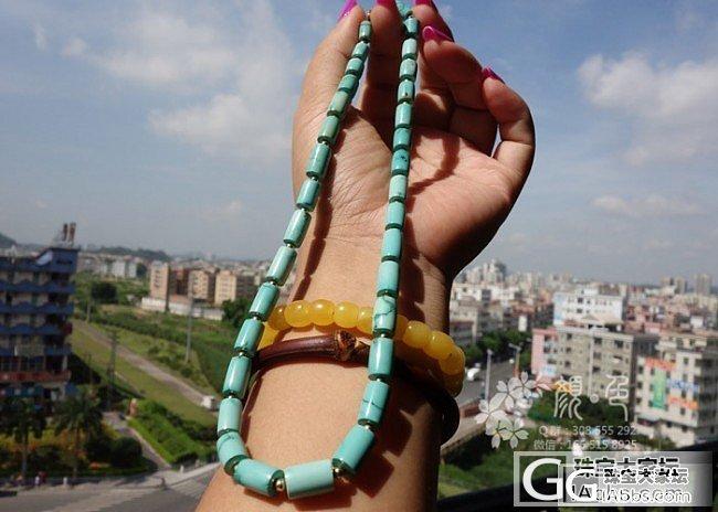 【颜●色】(售罄)原矿高瓷松石桶珠项链
