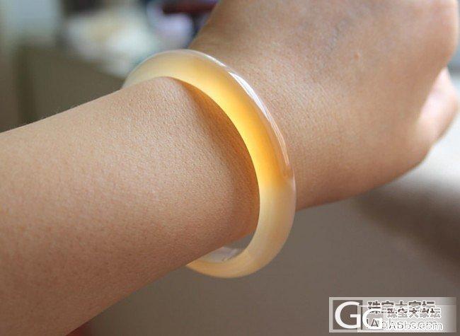 【挽玉阁】橘黄俏色玉髓手镯   180元包邮_挽玉阁
