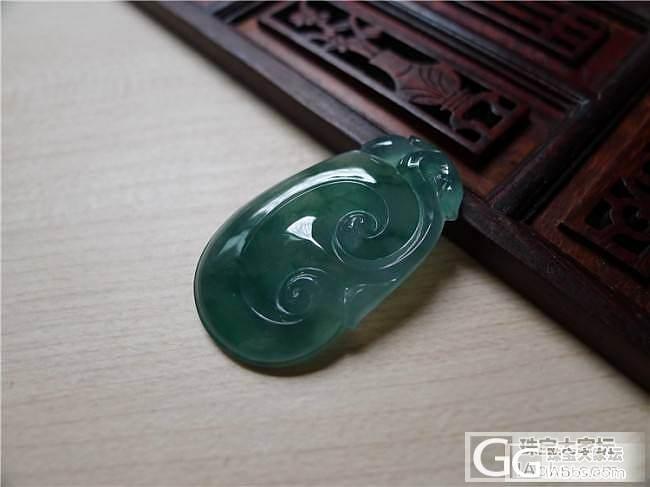 【小蛋蛋美玉】蓝水飘花如意,售价5000,微信号:feicui40_小蛋蛋美玉店
