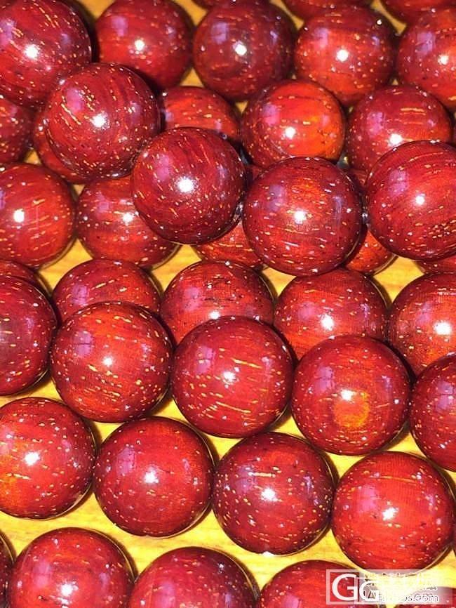 小叶紫檀0.8鸡血红爆满金星收藏级_小叶紫檀