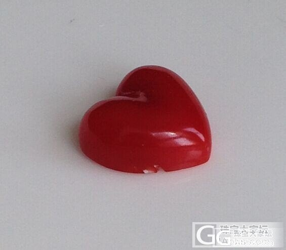 纯天然日本阿卡红珊瑚裸石 心形裸石 天然有机红宝石 可镶嵌吊坠_有机宝石