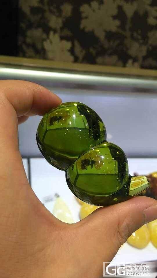 墨西哥绿珀,宝葫芦。_琥珀