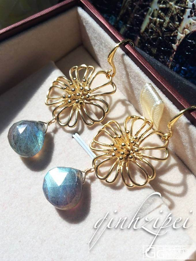 新人晒图!自己设计制作的拉长石珍珠项链,大家来给点意见吧!_工艺