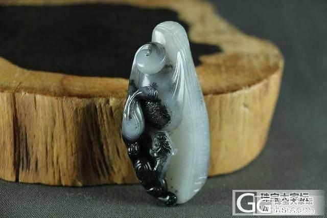 和田玉挂件 真品保真 支持复检 黑白分明雕刻精致青花籽料螭龙_传统玉石