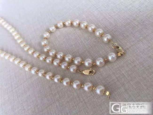 AKOYA珍珠套装,大家看看值多少钱?_珠串珍珠