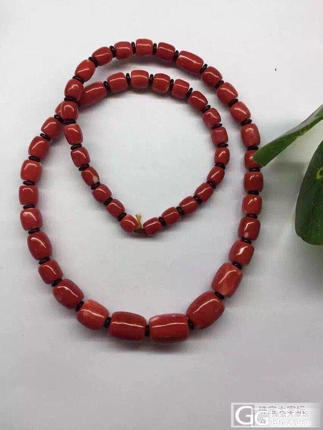 【红珊瑚】Momo特号色 桶子宝塔链_有机宝石