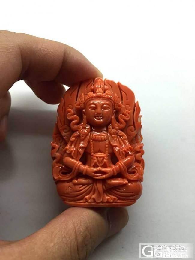 【红珊瑚】Momo长寿佛 一号色 结缘的来_有机宝石