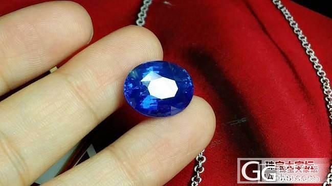 13克拉斯里兰卡无烧矢车菊,欣赏。。_蓝宝石