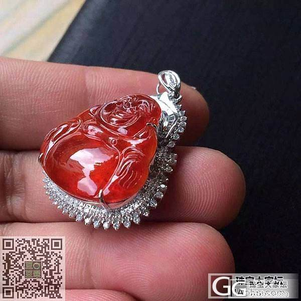 一个非常漂亮的红翡佛公吊坠.颜色非常艳丽红艳_珠宝