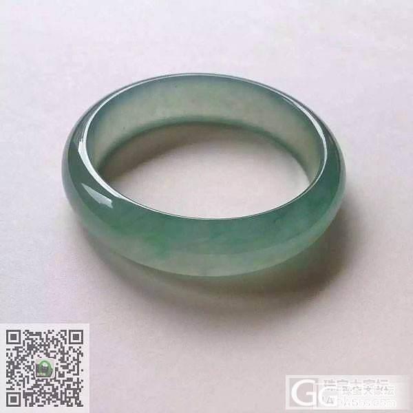 整圈冰绿条翡翠手镯,起光,厚装,上手好。_珠宝
