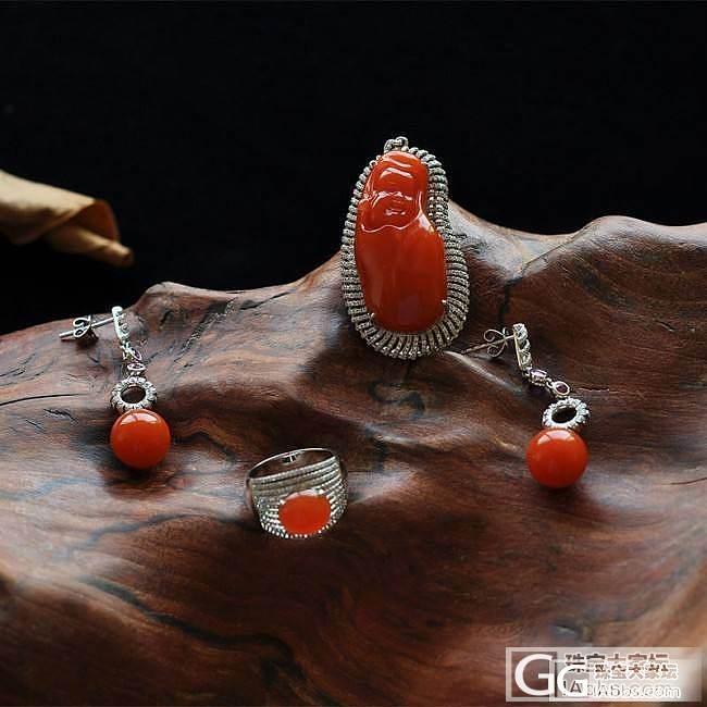 凉山南红玛瑙笑佛、戒指、耳钉一套_南红